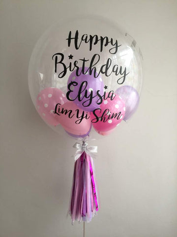 Purple & Pink Bubble Balloon Bouquet