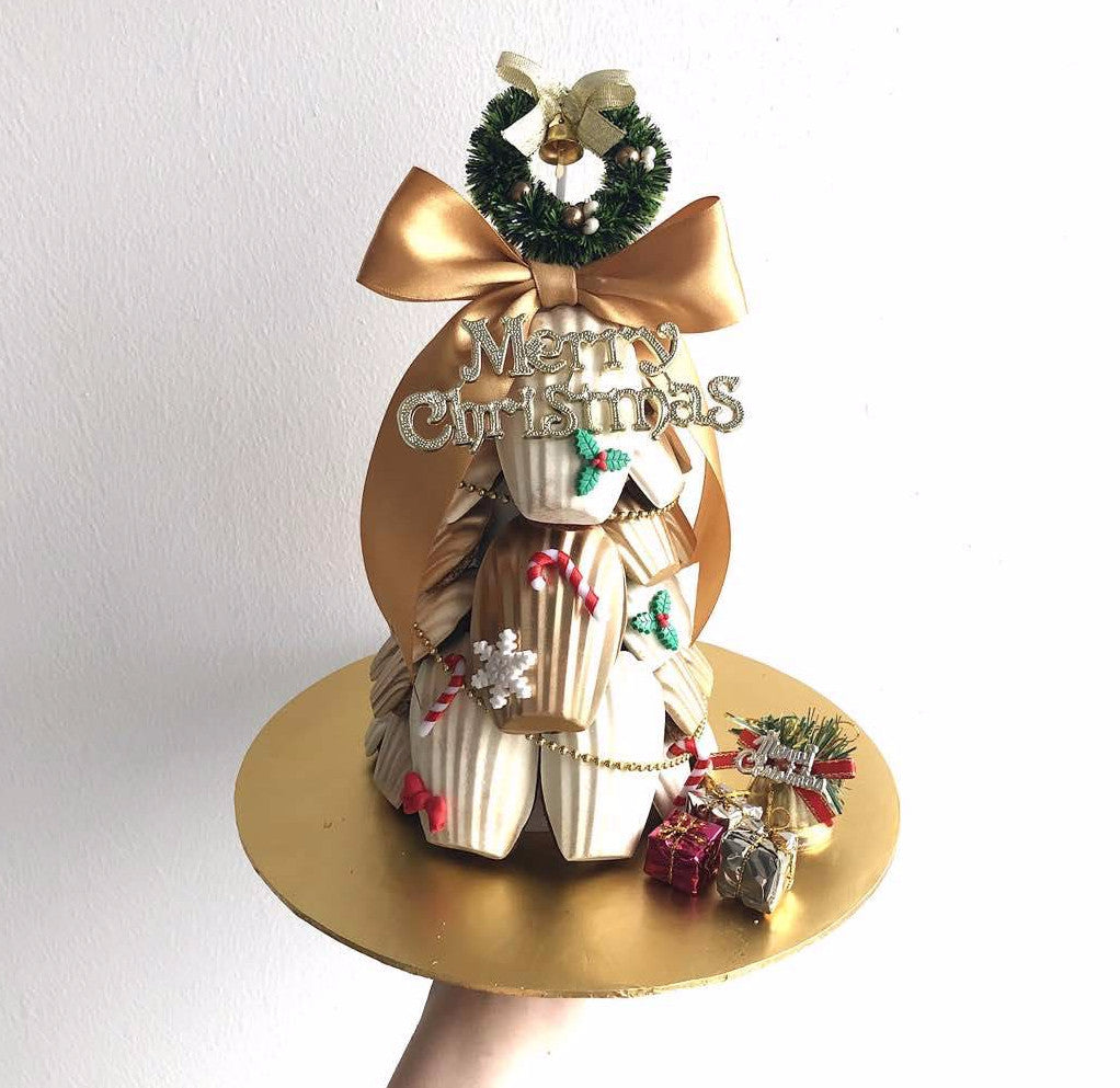 Christmas Madeleine Tower (With Merry Christmas Tag)