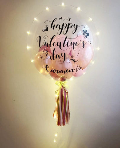 Happy Valentine's Day LED Bubble Balloon
