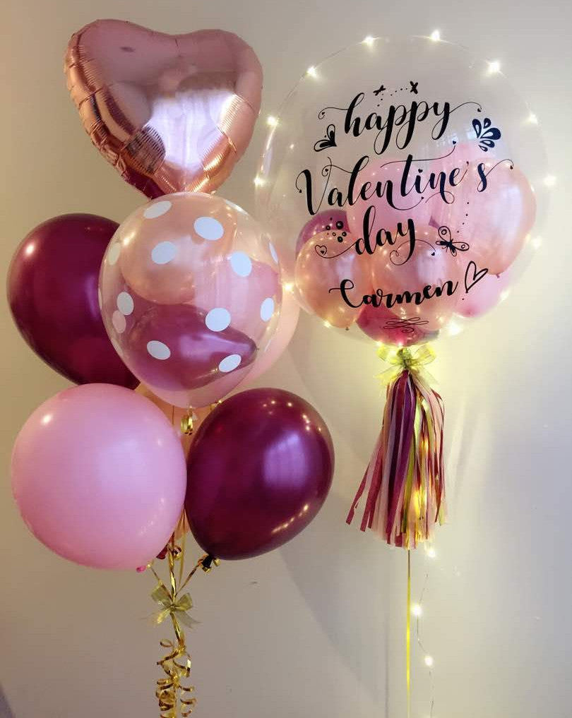 Happy Valentines Day LED Balloon Bouquet Giftr