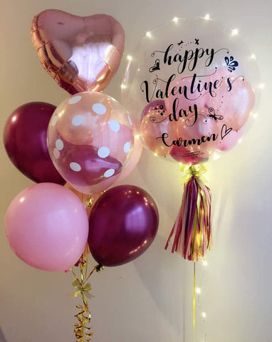 Happy Valentine's Day LED Balloon Bouquet