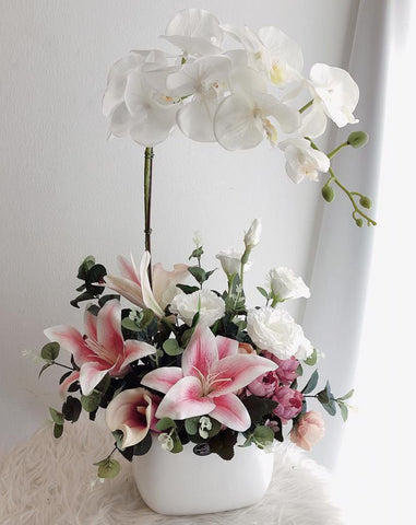 Artificial Mix Flowers in Vase