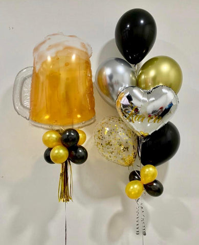 Personalised Beer Foil Balloon with Foil and Helium Balloons