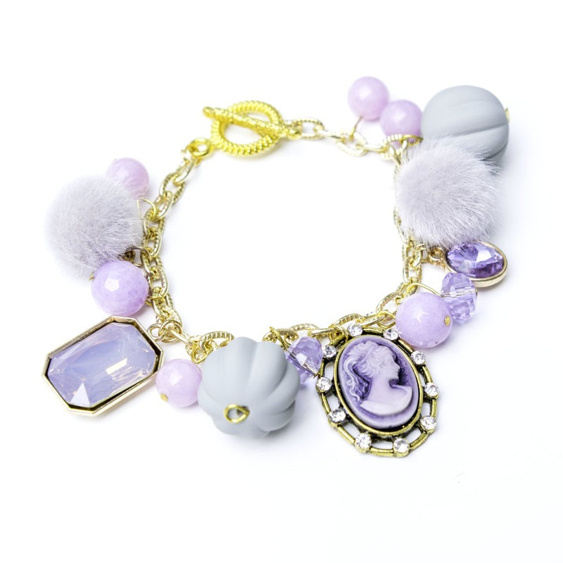 Cameo Purple Bracelet
