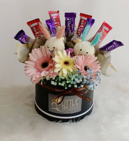 Mix Flower Chocolate Box (Negeri Sembilan Delivery only)