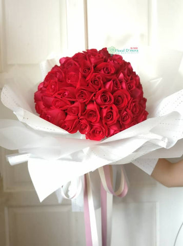 99 Roses Flower Bouquet (Negeri Sembilan Delivery Only)