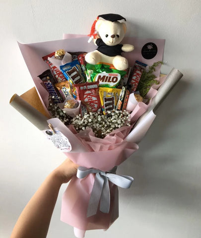 Graduation Bear Bouquet (Kota Kinabalu Delivery Only)