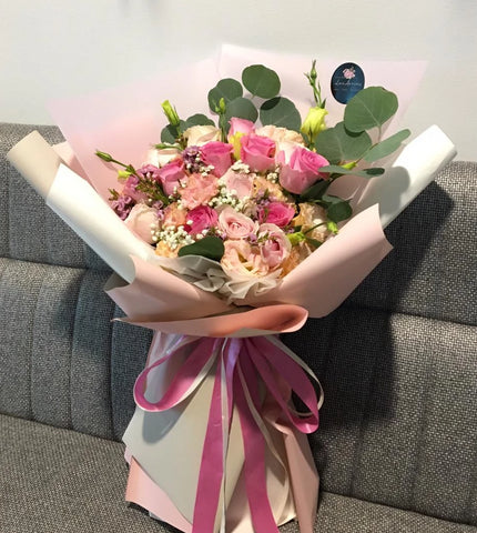 Soft Pastel Flower Bouquet (Kota Kinabalu Delivery Only)