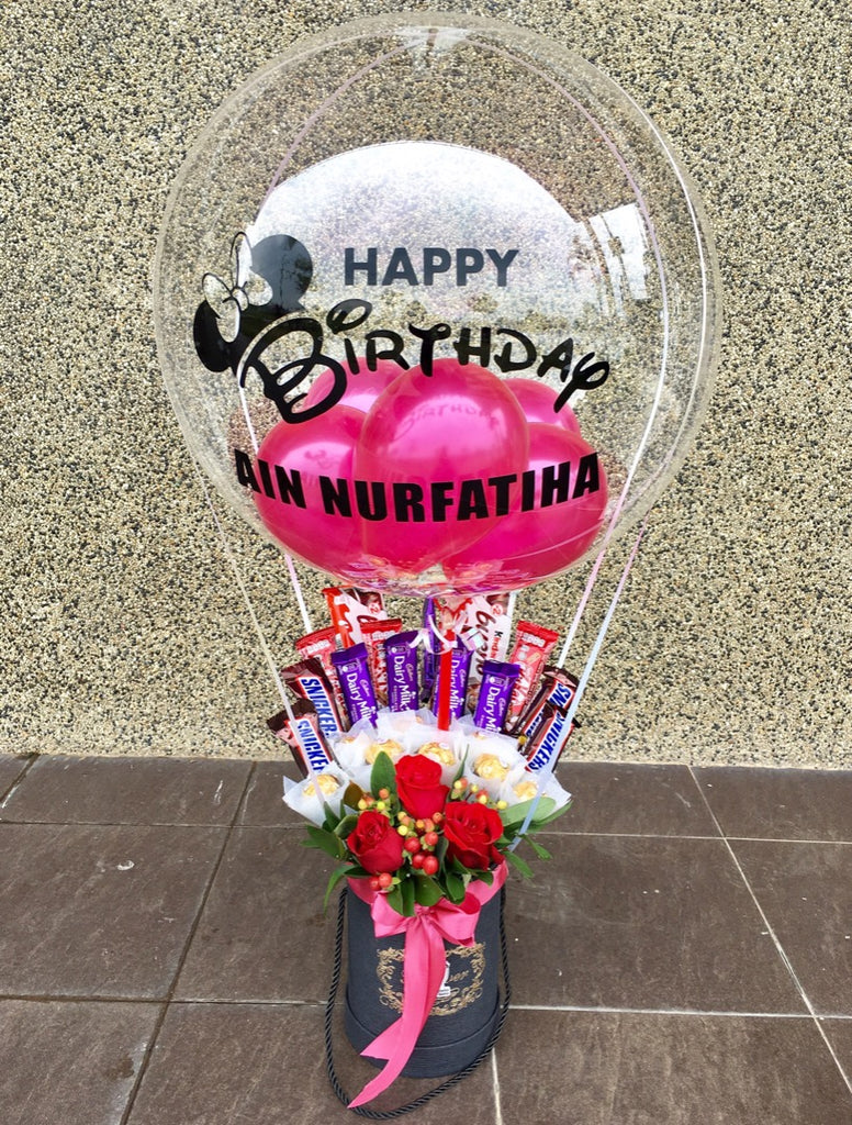 Hot Air Balloon With Mix Chocolate Penang Delivery Only Giftr Malaysia S Leading Online Gift Shop