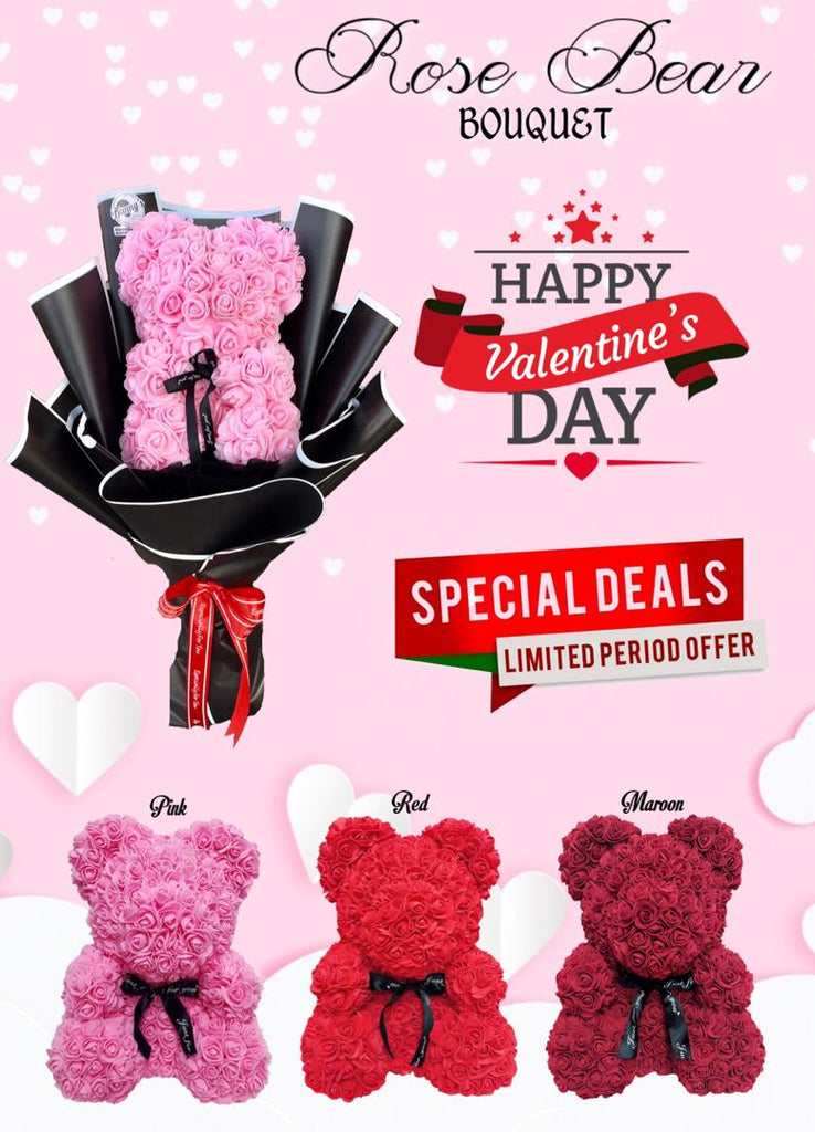 Rose Bear Bouquet Valentine's Day 2021 (Penang Delivery only)