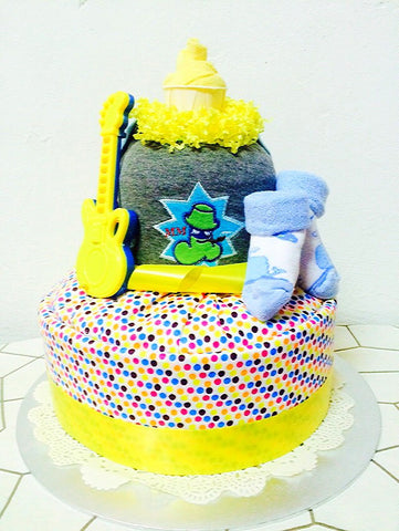Lemon Curd Rock Star Diaper Cake