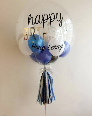 "Blue Series 24"" Bubble Balloon"