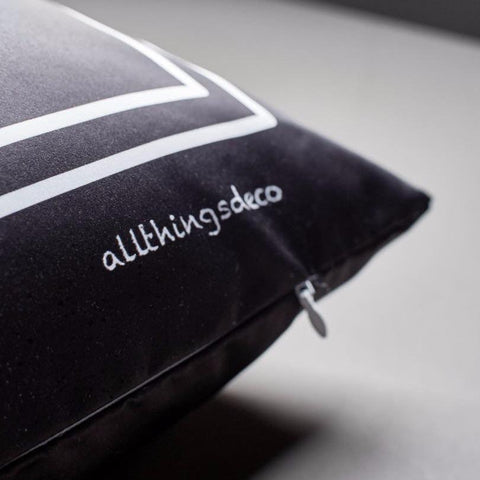 Black SCRIPT Cushion by ATD (Pre-order 2-4 weeks)
