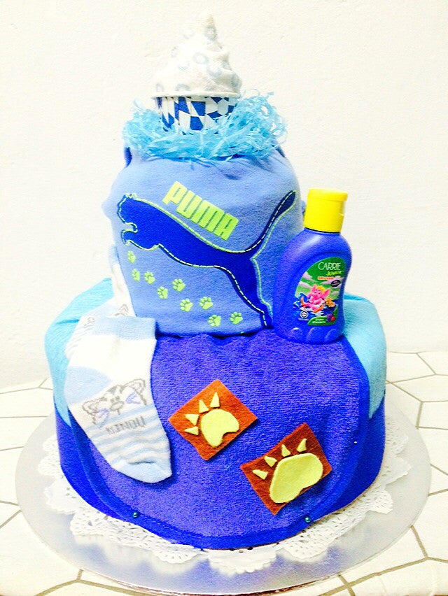 Tigerlicious Blue Diaper Cake