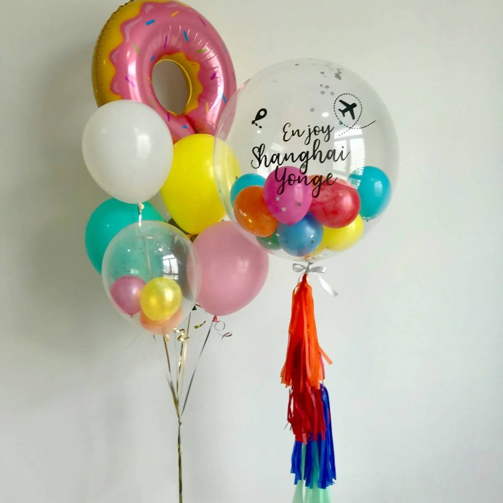 "24"" Bubble Colorful Balloon Bouquet"