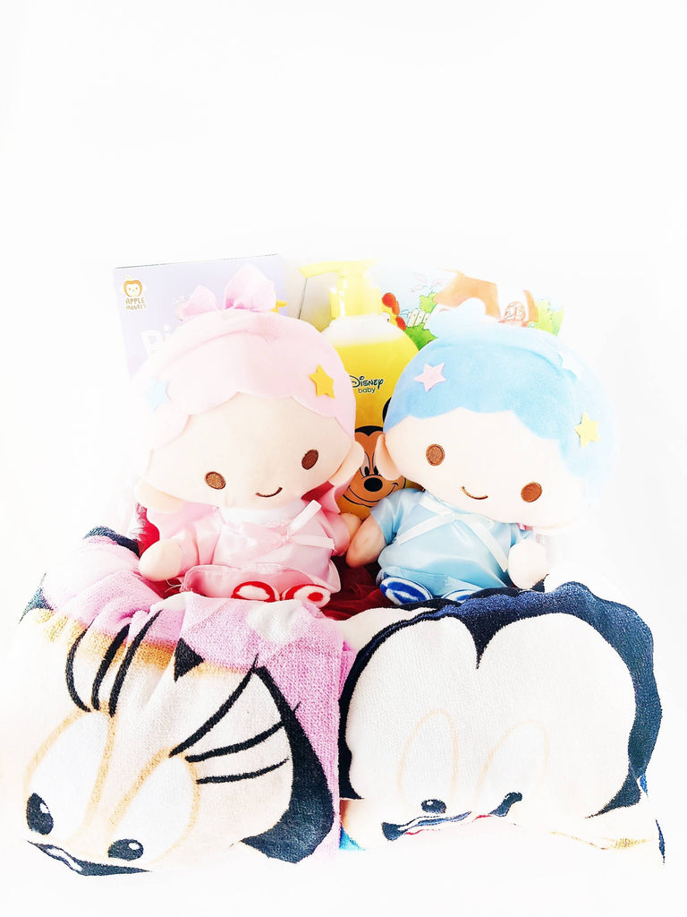 Twins Boy & Girl Little Stars Gift Basket (Klang Valley Delivery)