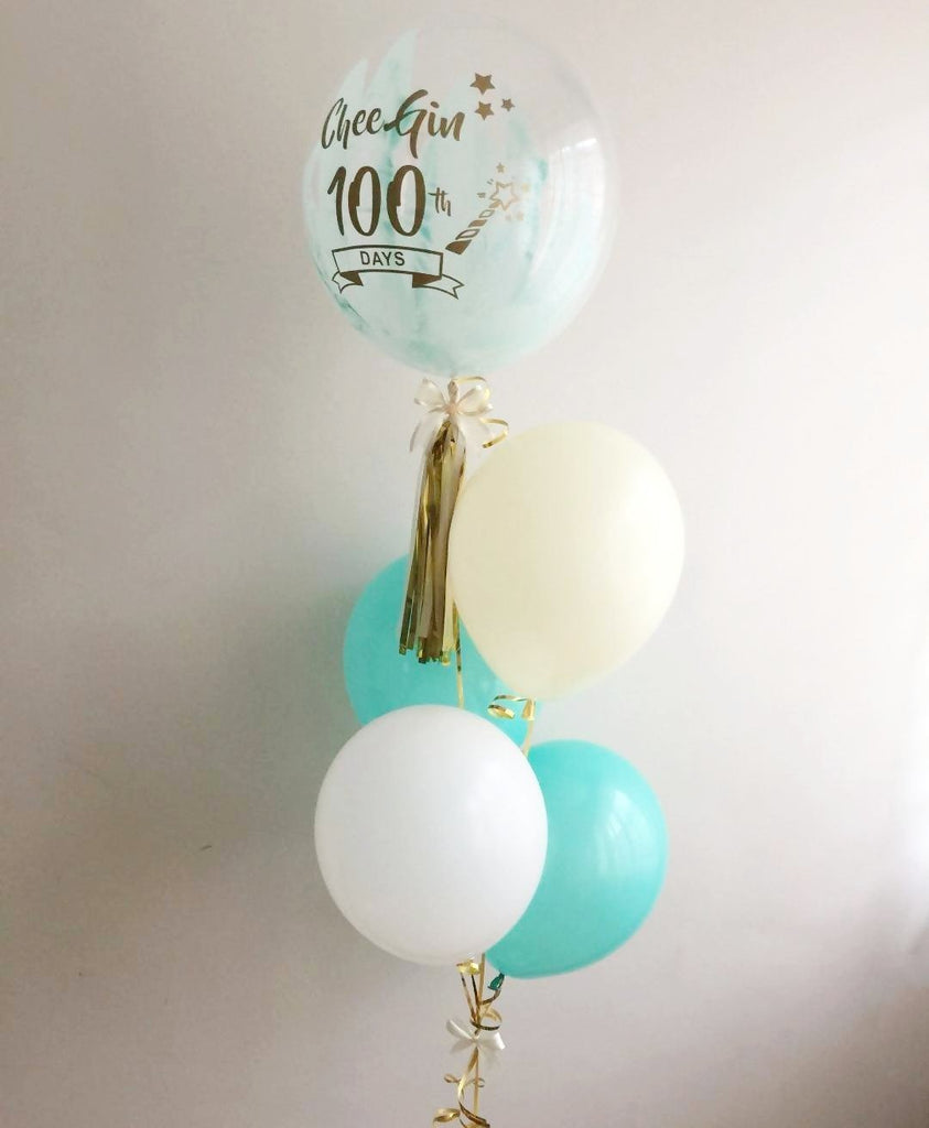 Art Painted Mini Bubble Balloon Set (Mint / Tiffany Green)