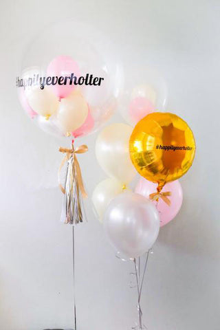 Personalised Bubble Balloon with Foil & Latex Helium Balloon Set for for Bridal Shower/ Wedding