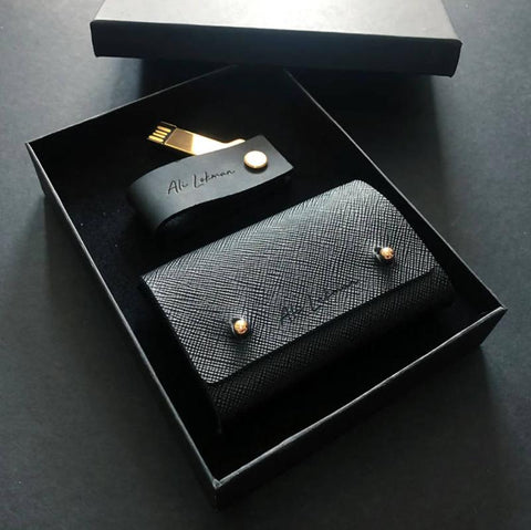 Leather InStyle Set B - Stylish USB Drive + Card Holder