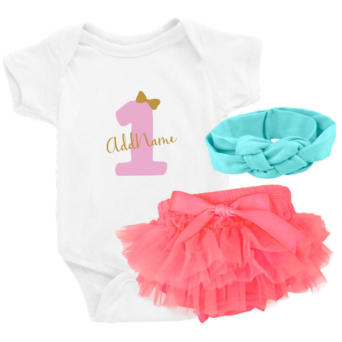 TeezBee 1 Year Old Birthday Girl Gift Sets