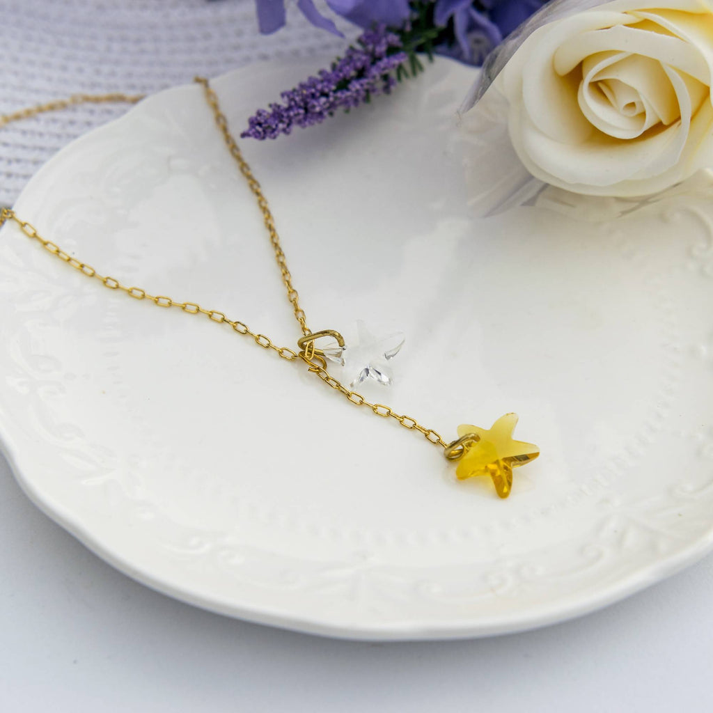 Gold Star Necklace & Earring Set