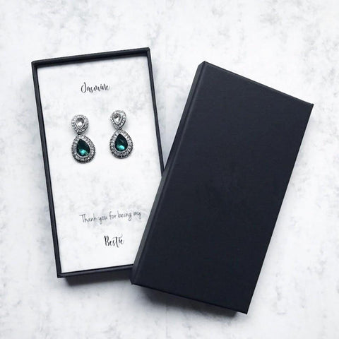 Emerald Teardrop Earrings (Pre-order 2-4 weeks)