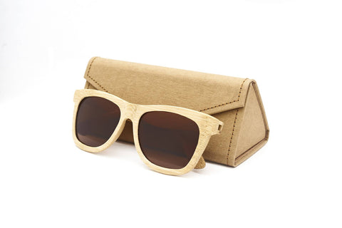 Personalised Bamboo Sunglasses with name (Wayfarer)