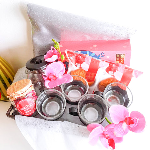 Mooncake Tea Set Hamper (Klang Valley Delivery Only)