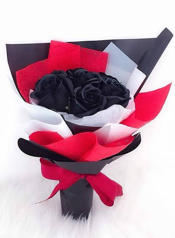 Black Soap Rose Bouquet