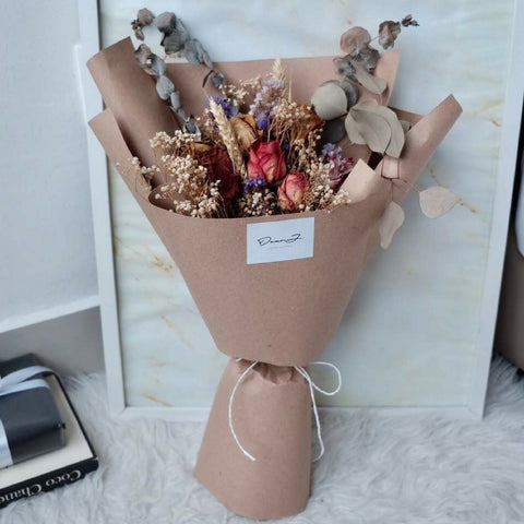 Vintage Flower Bouquet (Dried Flowers)