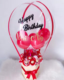 Red Hot Air Balloon with Chocolates & Cake (1 slice)