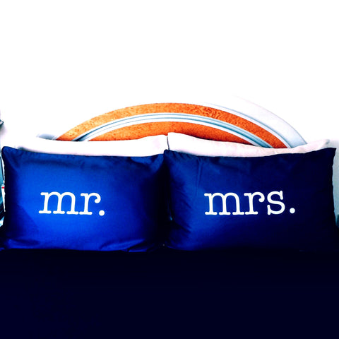 MR. & MRS. Pillowcases (Pre-order 2-4 weeks)