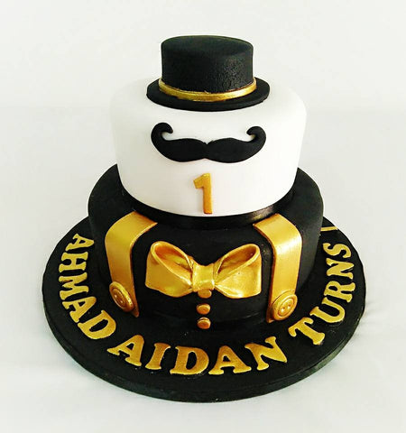 Golden Little Man Cake (2 tiers)