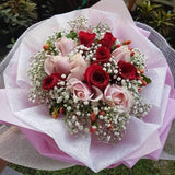 A Dozen of Red and Pink Roses (Valentine's Special)