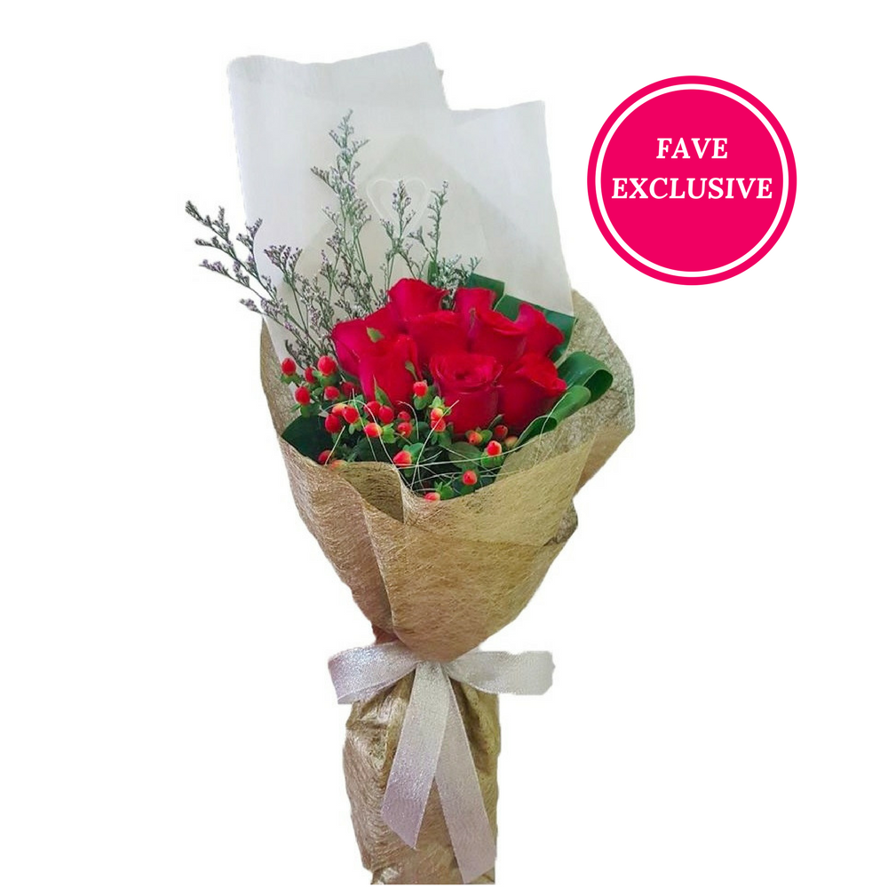 9 stalks of Red Roses (Delivery to KL/PJ)