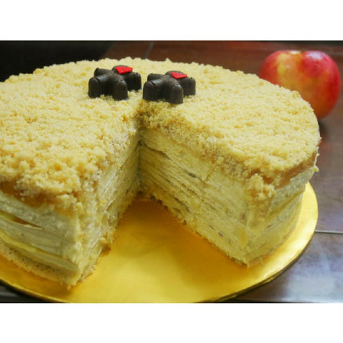 Apple Crumble Mille Crepe