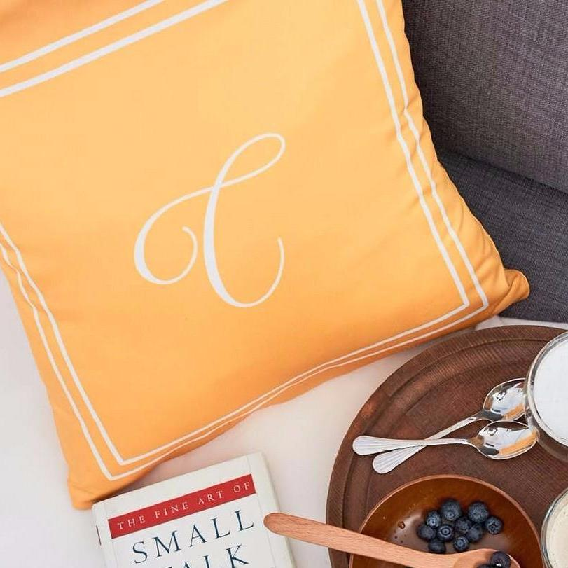 Personalised SCRIPT Alphabet Cushion  (Pre-order 15 to 25 working days)