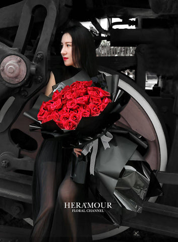 Giant Red Rose Romance Bouquet