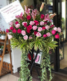 Hot Pink Flowers Stand