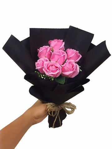 Pink Soap Rose Flower Bouquet (Valentine's Special)