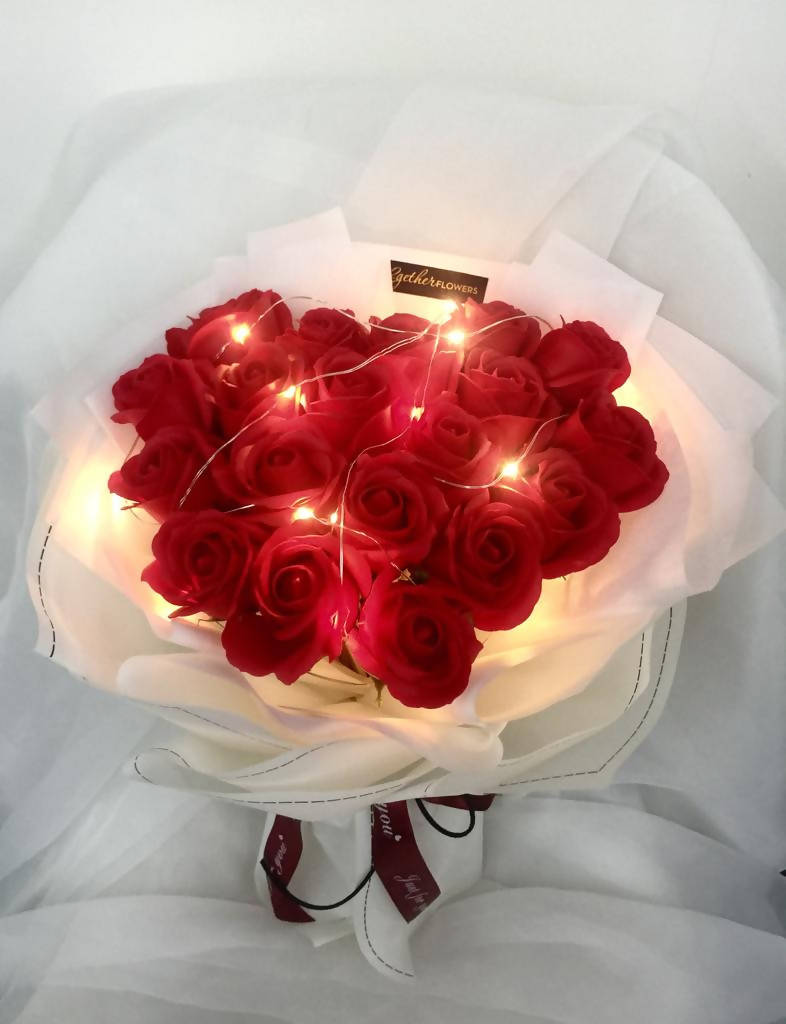 Red Soap Roses Flower Bouquet (Valentine's Day 2020)