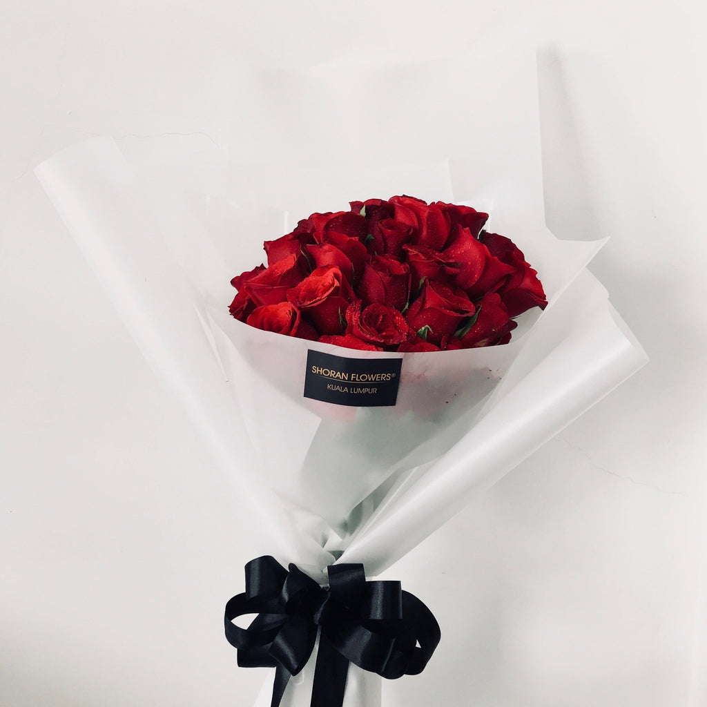 Bergamo 30 Red Roses Bouquet - Valentine's Day 2019