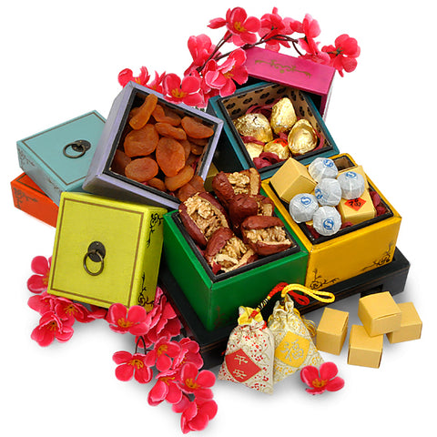 Fortune Aplenty - Chinese Reunion Delicacies in Handcrafted Tray - CNY Hamper
