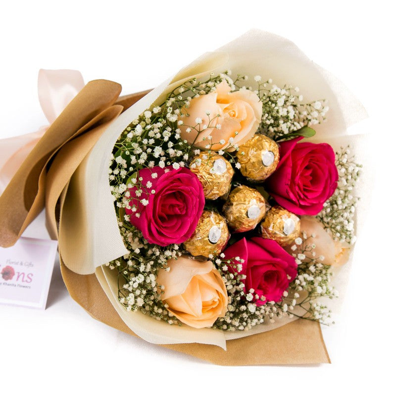 Red Roses & Chocolates Bouquet