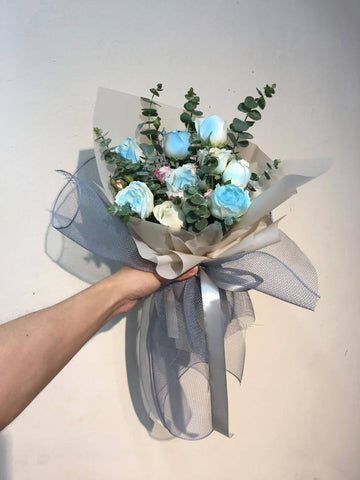 Bouquet Di Rose Blu - Blue Roses Bouquet (Johor Bahru Delivery only)