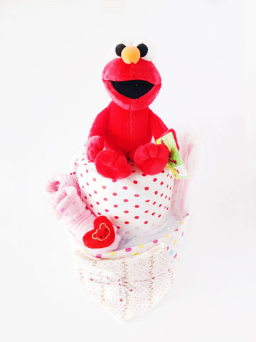 Shortie Elmo Diaper Cake (Nationwide Delivery)