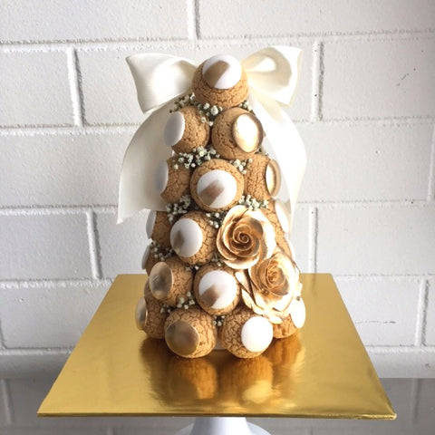Gold Croquembouche Tower