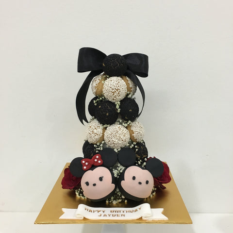 Mickey Minnie Croquembouche Tower (Red / Black)