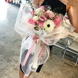 Shades of Pink & White  Bouquet (Johor Bahru Delivery)