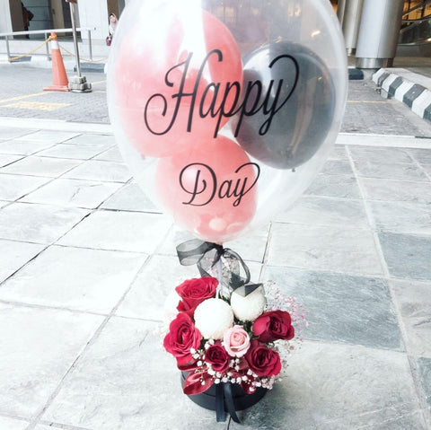 'Happy Day' Balloon with Flower Box